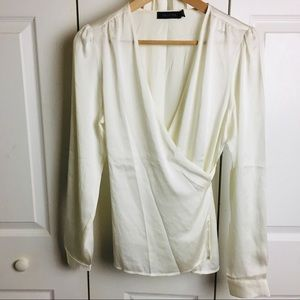 NWOT The Limited Wrap Top - ties around waist